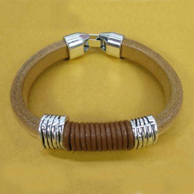 pulsera de chico de cuero regaliz